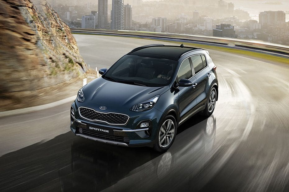 Sportage Front angle low view
