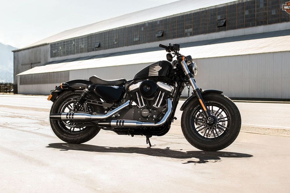 Harley-Davidson Forty-Eight Slant Rear View Full Image