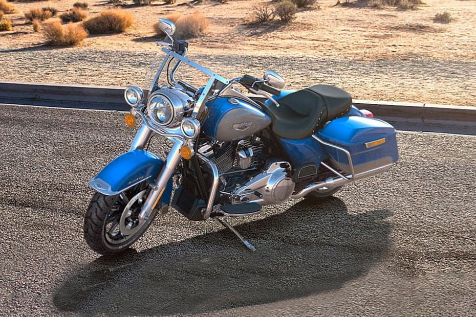 Harley-Davidson Road King Slant Front View Full Image