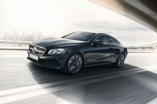 E-Class Coupe Front angle low view
