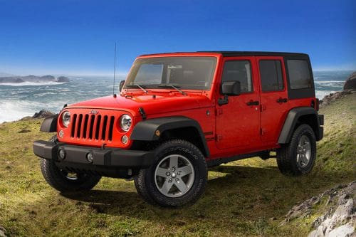 Wrangler Unlimited Front angle low view