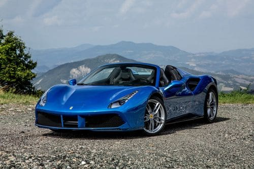 488 Spider Front angle low view