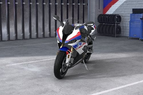 BMW S 1000 RR M Package Slant Front View Full Image