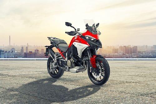 Ducati Multistrada V4 Slant Rear View Full Image