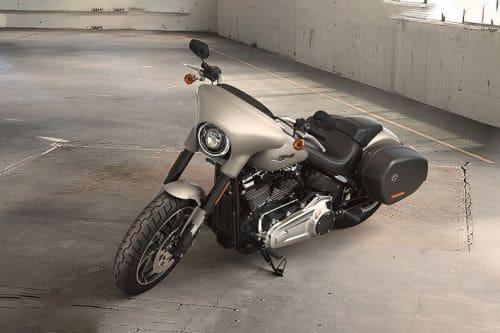 Harley-Davidson Sport Glide Slant Front View Full Image