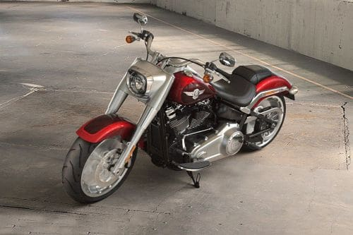 Harley-Davidson Fat Boy Slant Front View Full Image