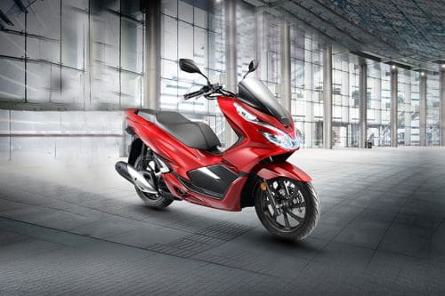 Honda PCX Slant Rear View Full Image