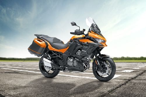 Kawasaki Versys 1000GT Slant Rear View Full Image