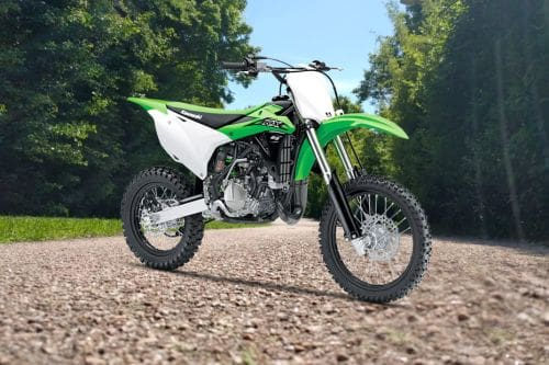 Kawasaki KX85-D Slant Rear View Full Image