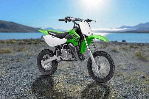Kawasaki KX65 Slant Rear View Full Image