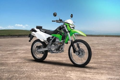 Kawasaki KLX250 Slant Rear View Full Image