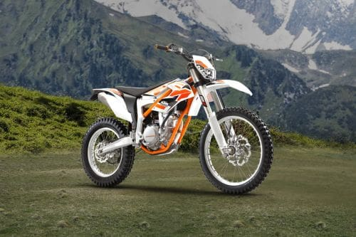KTM Freeride 350 Slant Rear View Full Image