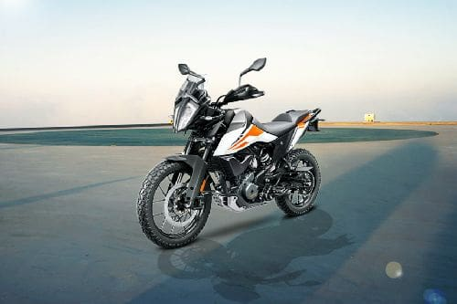 KTM 390 Adventure Slant Front View Full Image