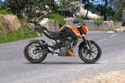 KTM Duke 200 Right Side Viewfull Image