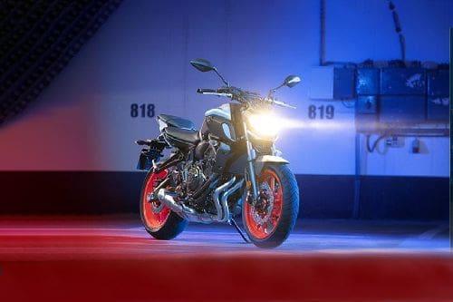 Yamaha MT-07 Slant Front View Full Image
