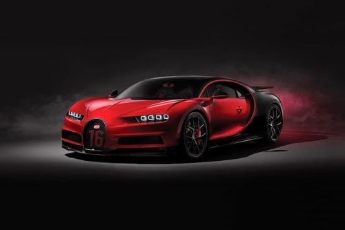 Chiron Sport Front angle low view